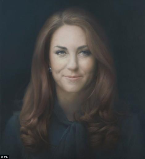 New Kate Middleton Portrait - Artist Paul Emsley Makes Duchess of Cambrige Pretty This Time