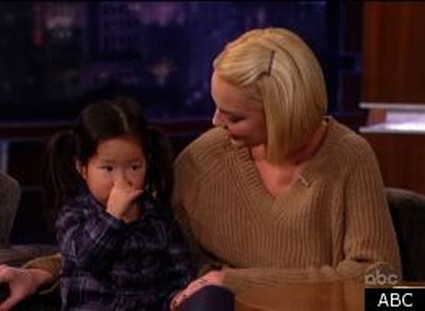 Katherine Heigl Introduces Daughter On Jimmy Kimmel (Video)