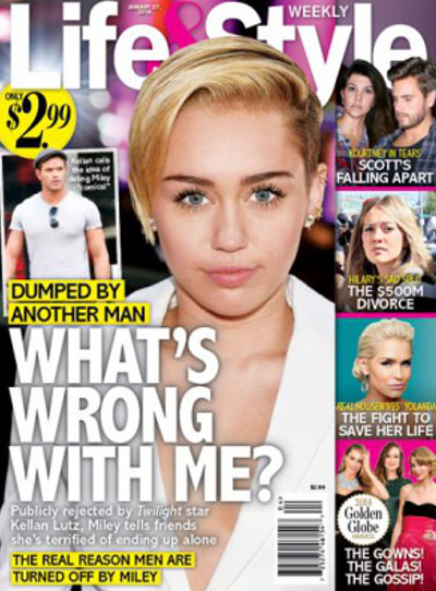 Miley Cyrus Dumped by Kellan Lutz and Demands to Know Why Men Can't Love Her! (PHOTO)