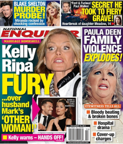 Kelly Ripa Fuming Mad over Husband Mark Consuelos' Erotic Romps with Yara Martinez on Web Show (PHOTO)