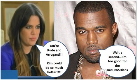 "Report: Khloe Kardashian Hates Kanye West – Calls Him ""Rude and Arrogant"""