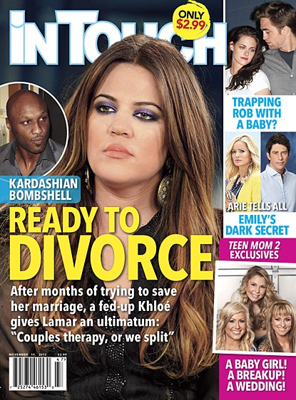 Khloe Kardashian Demands Lamar Odom Attend Couples Therapy Or She wants A Divorce 1107