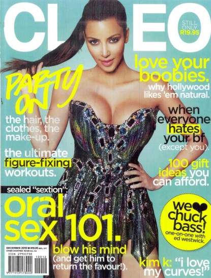 Kim Kardashian Is Cleo South Africa's December 2010 Cover Girl