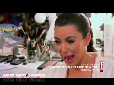 Kim Kardashian Breaks Down In Crocodile Tears On TV (Video)