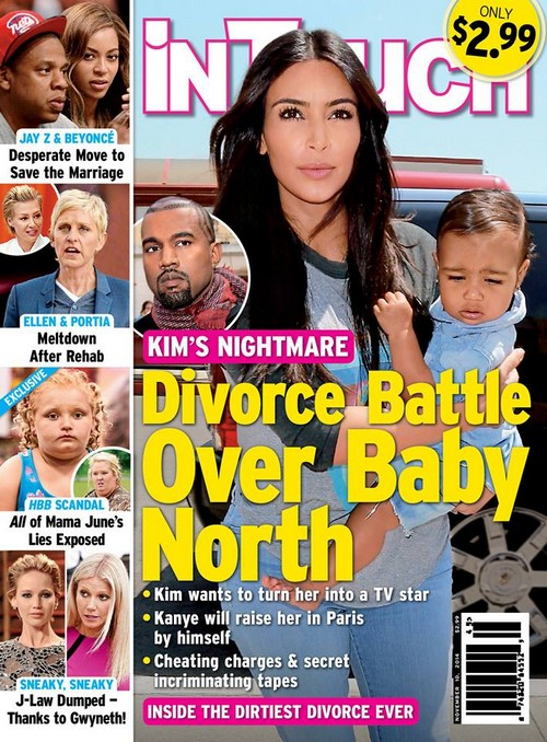 Kim Kardashian Fighting With Kanye West: Divorce and Custody Battle Over North West? (PHOTOS)