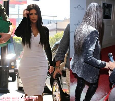 Kim Kardashian Survives White Flour Bombing By Mystery Woman