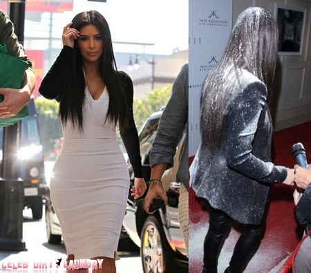 Kim Kardashian Survives White Flour Bombing By Mystery Woman