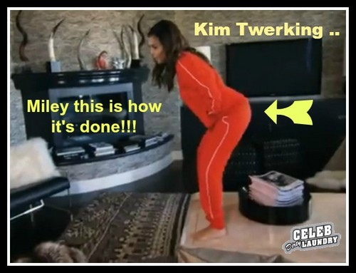 Kim Kardashian Twerking - Shows Miley Cyrus How To Twerk (VIDEO)