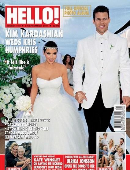 Hello! Magazine's Kim Kardashian Wedding Photos