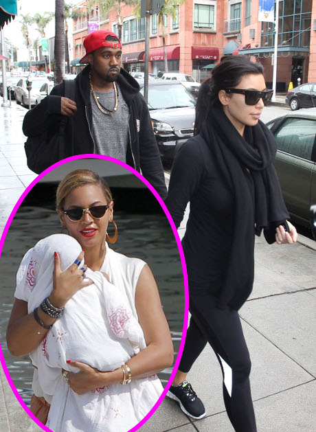 Kim Kardashian and Beyonce Fight Over Pregnancy and Blue Ivy Carter (Video)