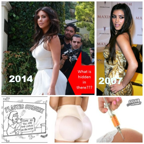 Kim Kardashian at Ciara's Baby Shower: See Her Plastic Surgery and Butt Implants Exposed (PHOTOS)