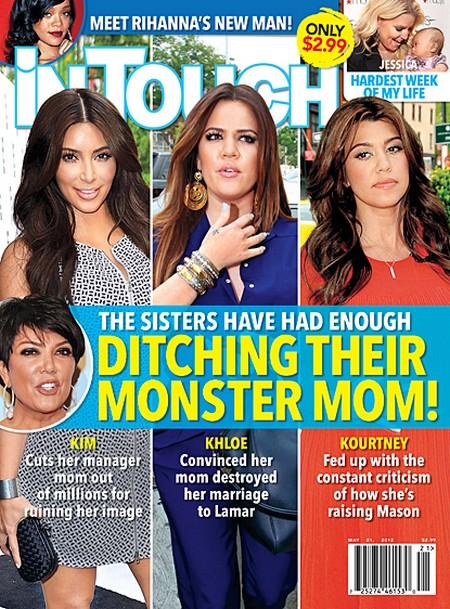 Kim, Khloe and Kourtney Kardashian Are Dumping Their Monster Mom Kris Jenners