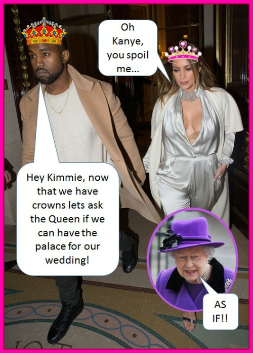 Kim Kardashian And Kanye West Plan Royal Wedding: Order Crowns (PHOTO)
