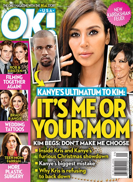 "Kanye West Gives Kim Kardashian A Difficult Ultimatum: ""It's Me or Your Mom!"""