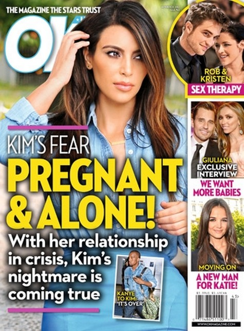 Kim Kardashian's Fears Being Pregnant and Alone Without Kanye West