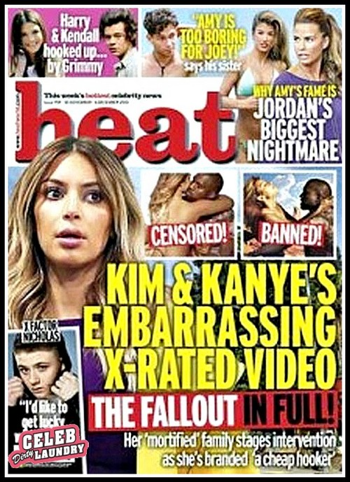 Well, this is just hilarious. According to the latest cover issue of Heat Magazine, Kris Jenner is apparently furious at Kim Kardashian for appearing in Bound 2, the raunchy music video
