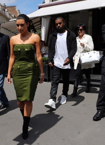 Kris Jenner And Kanye West Fighting Over Kim Kardashian's Baby Weight? 0221