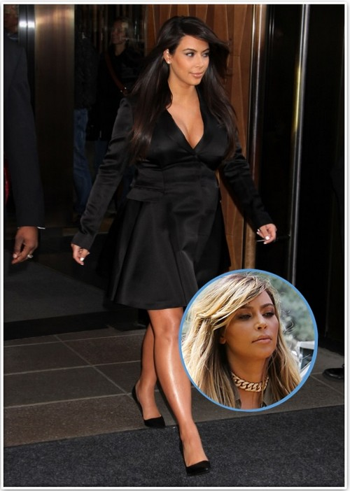 Kim Kardashian Goes Blonde For Attention - Never Ending Famewhore (Photo)
