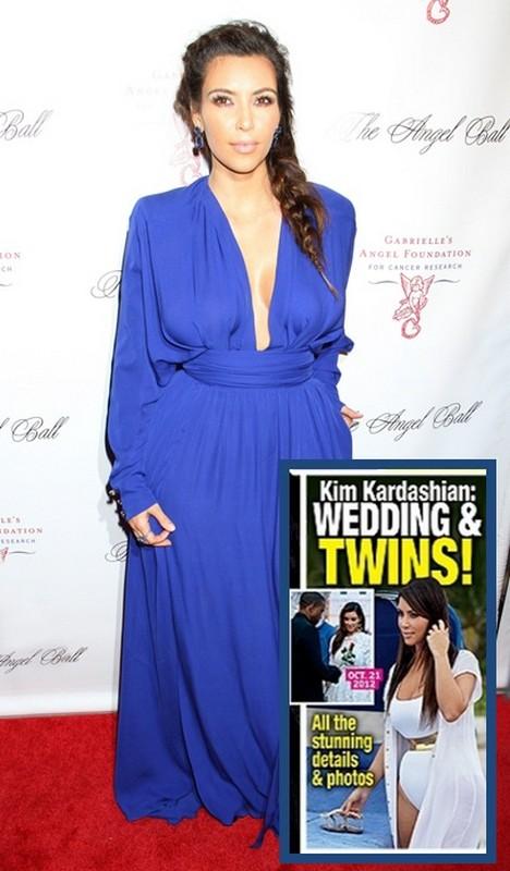 Report: Kim Kardashian Pregnant and Secretly Married To Kanye West! (Photo)