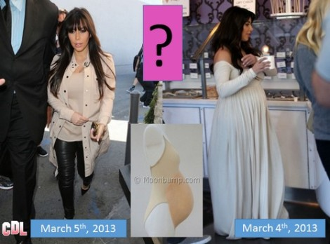 Kim Kardashian's Baby Bump Mysteriously Disappears - Is She Padding For The Cameras? (Video)