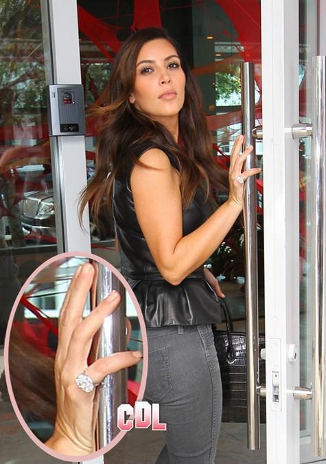 Kim Kardashian Engaged - Kanye West Proposes With Huge 10 Carat Diamond Ring (Report Photo) 1025