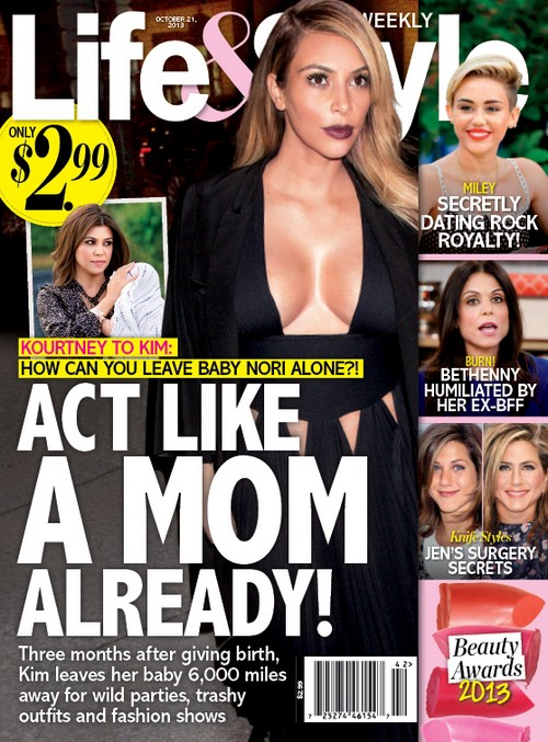 Kourtney Kardashina Says Kim Is A Bad Mother: Sisters at War! (PHOTO)