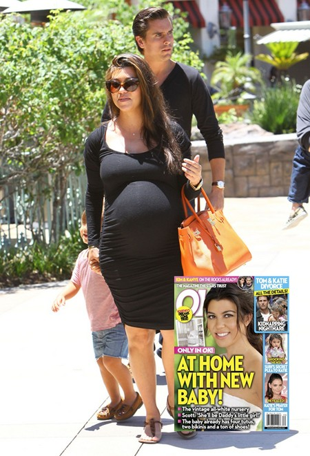 At Home With Kourtney Kardashian's New Baby (Photo)