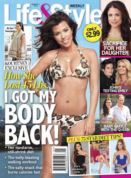 "Kourtney Kardashian Shouts ""I Got My Body Back!"" on the Cover of Life & Style Weekly (Photo)"