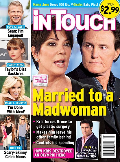 """Kris Jenner Pays Off Lover: Bruce Jenner Calls Wife A """"Madwomen"""" (Photo)"""