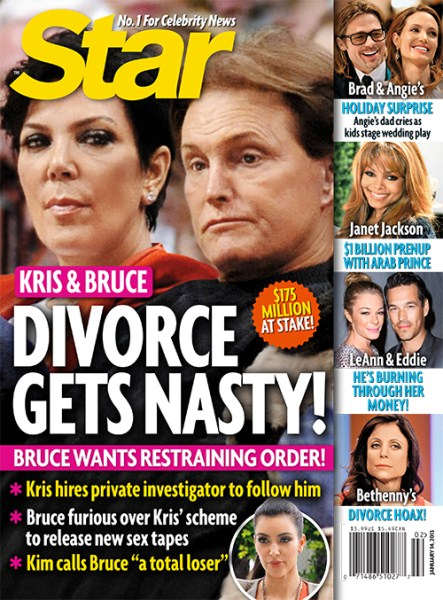 Kris Jenner, Bruce Jenner Divorce Gets Nasty - Bruce Wants Restraining Order