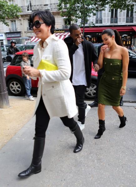 Kris Jenner, Kanye West Already Fighting Over Kim Kardashian's Baby 0110