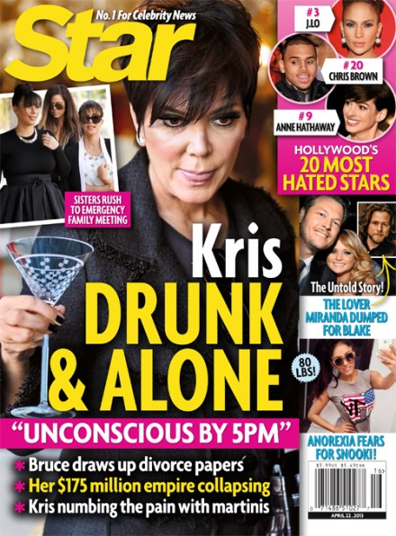 Kris Jenner Drunk and Desperate as Bruce Jenner Draws Up Divorce Papers – MARRIAGE CRISIS!