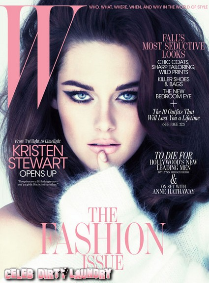 Kristen Stewart Shoots Cover of W Magazine