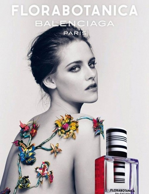 Kristen Stewart Topless For Balenciaga Florabotanica Ad - Takes Attention Away From Robert Pattinson's Dior Ad? (Photo)