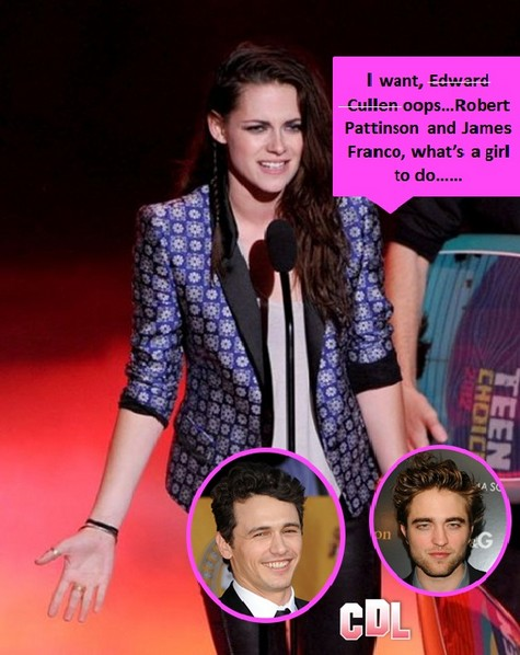 Kristen Stewart's Love Triangle with James Franco and Rob Pattinson To Be A Threesome
