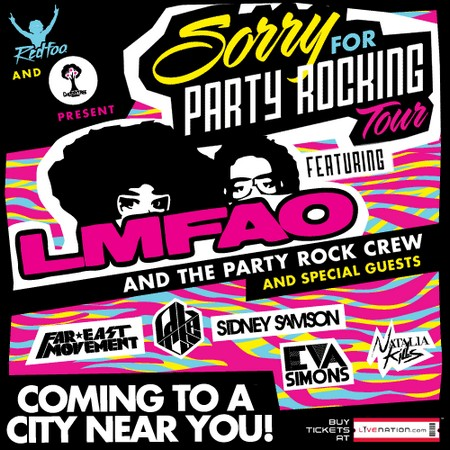 Giveaway: 2 Tickets To See LMFAO and the Party Rock Crew and Special Guests