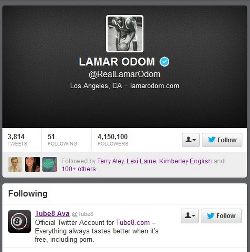Lamar Odom Dumps Khloe kardashian For Free Porn Account!
