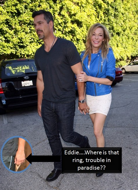 LeAnn Rimes and Eddie Cibrian Breaking Up? -- Eddie Spotted Without Wedding Ring