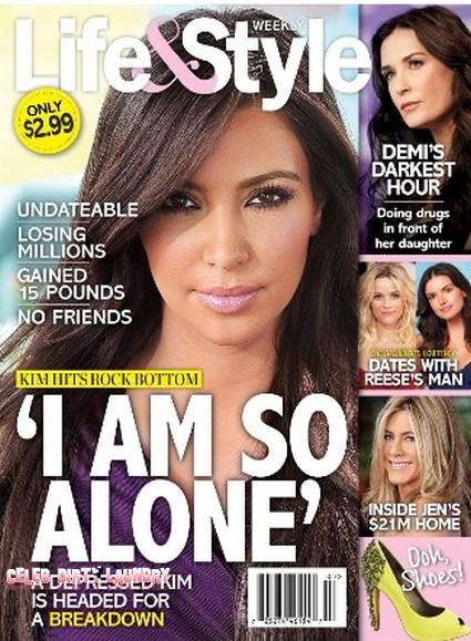 Kim Kardashian Hits Rock Bottom And Is Headed For A Breakdown (Photo)