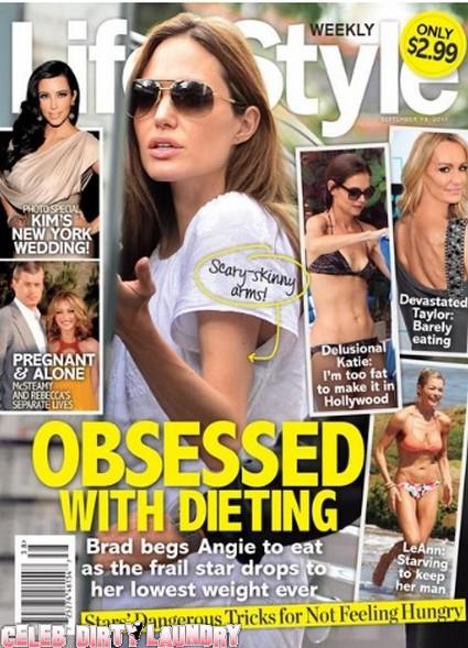 Life & Style: Brad Pitt Begs Scary Skinny Angelina Jolie To Eat  - Photo