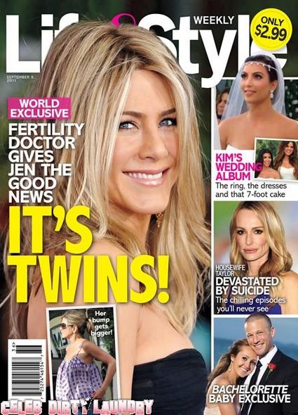 Life & Style Magazine: Jennifer Aniston Is Having Twins!