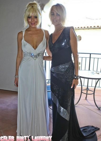 Lindsay Lohan Breaks Out The Booze At Kim Kardashian's Wedding - Mom Dina Enables It