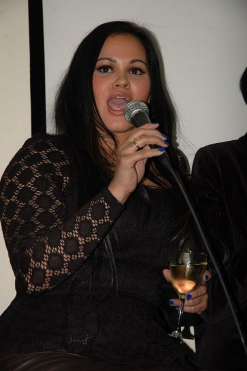 Liza Morales during Q&A