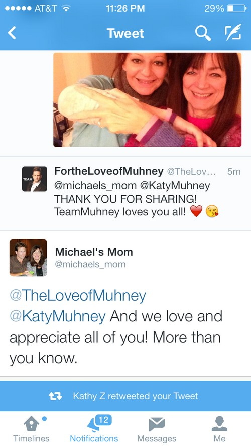 Michael Muhney's Final Day on The Young and the Restless: Mom and Sister Katy Offer Support (PHOTOS)
