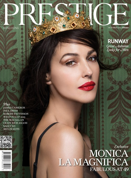 Monica Bellucci Covers Prestige Hong Kong and Opens Up About Love, Life, And Children