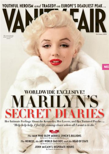Marilyn Monroe Covers Vanity Fair November 2010