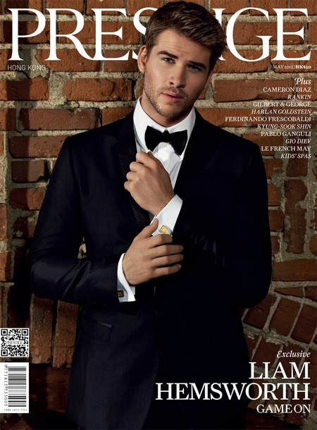 Hunger Games' Liam Hemsworth 'Keeping It Real' For Prestige Hong Kong