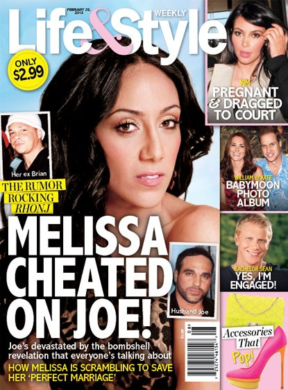 Melissa Gorga Accused of Cheating on Her Husband Joe Gorga