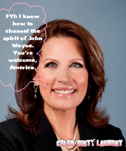 Michele Bachmann And Her John Wayne Mix-Up -- A Big Woopsie (Video)