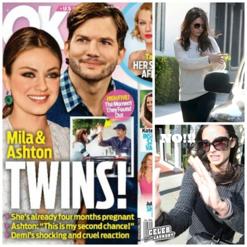 Mila Kunis And Ashton Kutcher Pregnant With Twins - UPDATE ONE CHILD EXPECTED SEE BABY BUMP (PHOTOS)